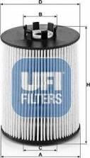 UFI 26.081.00 - Паливний фільтр autocars.com.ua