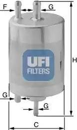 UFI 31.958.00 - Паливний фільтр autocars.com.ua