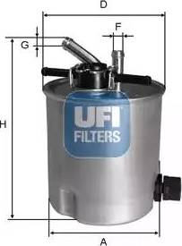 UFI 55.394.00 - Паливний фільтр autocars.com.ua