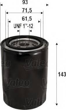 Valeo 586105 - Масляний фільтр autocars.com.ua