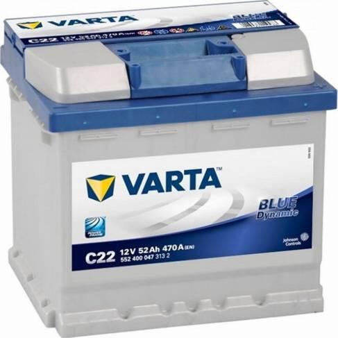 Varta 552400047 - Стартерная аккумуляторная батарея, АКБ car-mod.com