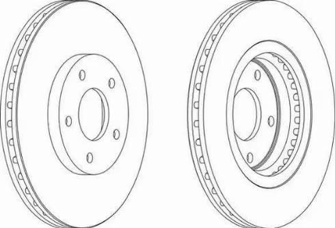 NiBK RN1303DSET - Экономичный тормозной диск car-mod.com