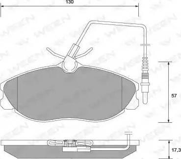 Ween 151-1328 - Комплект тормозных колодок, дисковый тормоз autodnr.net