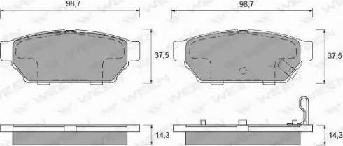 Ween 151-2107 - Комплект тормозных колодок, дисковый тормоз autodnr.net