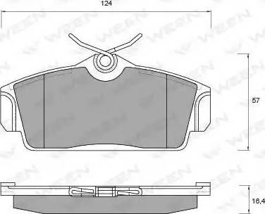 Ween 151-2167 - Комплект тормозных колодок, дисковый тормоз autodnr.net