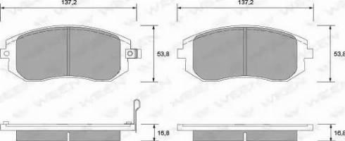 Ween 151-2299 - Тормозные колодки, дисковые car-mod.com