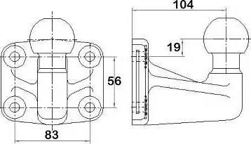 Westfalia 329059600001 - Подвинтимый диск, прицепное оборудование car-mod.com