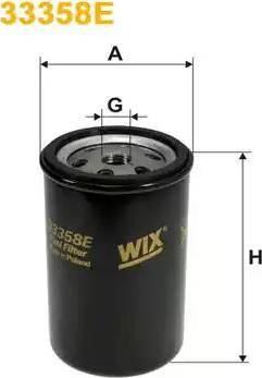 WIX Filters 33358E - Паливний фільтр autocars.com.ua