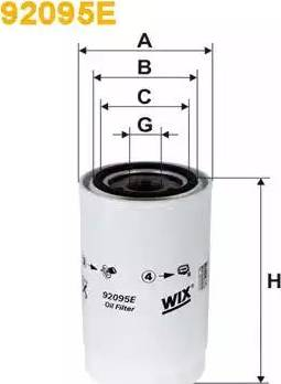 WIX Filters 92095E - Масляний фільтр autocars.com.ua