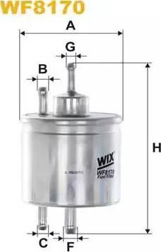 WIX Filters WF8170 - Паливний фільтр autocars.com.ua