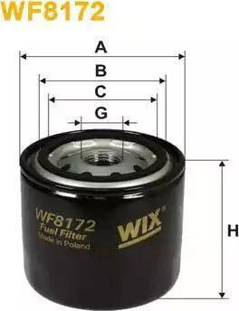 WIX Filters WF8172 - Паливний фільтр autocars.com.ua