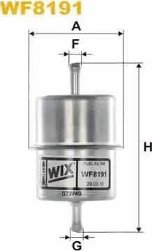 WIX Filters WF8191 - Паливний фільтр autocars.com.ua