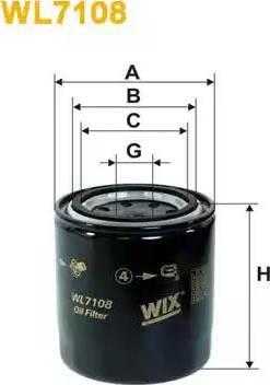 WIX Filters WL7108 - Масляний фільтр autocars.com.ua