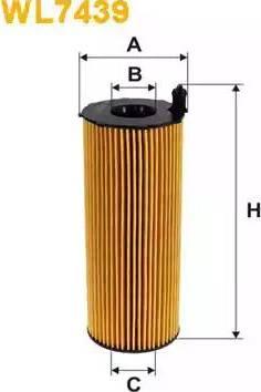 WIX Filters WL7439 - Масляний фільтр autocars.com.ua