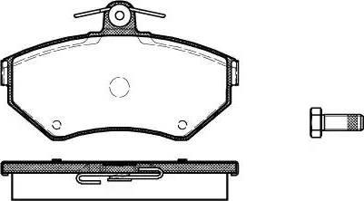 Woking P7313.10 - Тормозные колодки, дисковые car-mod.com