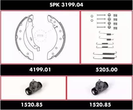 Woking spk319904 - Комплект тормозов, барабанный тормозной механизм autodnr.net