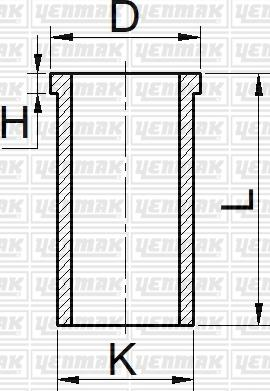 Yenmak 5165303000 - Гильза цилиндра autodnr.net