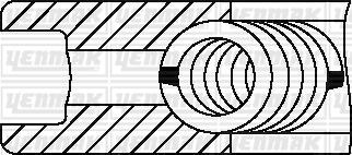 Yenmak 9109804050 - Комплект поршневых колец autodnr.net
