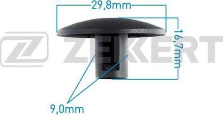 Zekkert BE2091 - Зажим, молдинг / защитная накладка car-mod.com