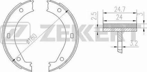 Zekkert bk-4135 - Комплект тормозных колодок autodnr.net