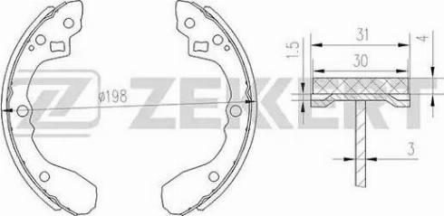 Zekkert bk4257 - Комплект тормозных колодок autodnr.net