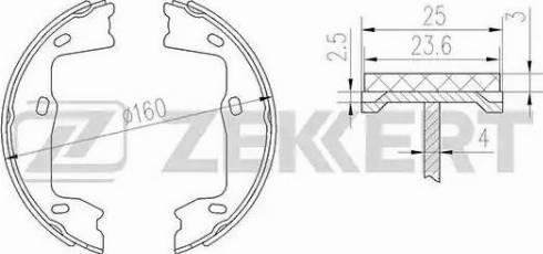 Zekkert bk-4449 - Комплект тормозных колодок autodnr.net