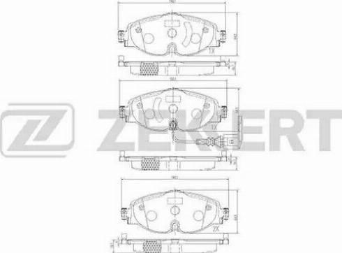 Zekkert BS-1047 - Тормозные колодки, дисковые car-mod.com