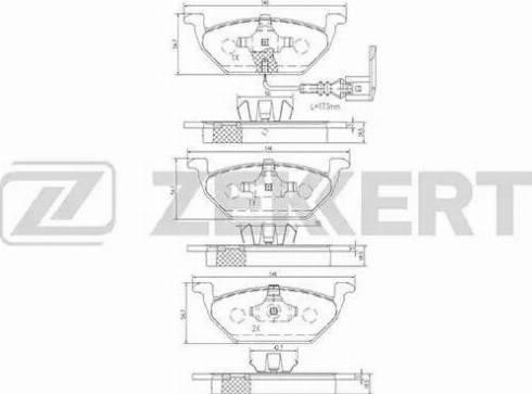 Zekkert BS-1138 - Комплект тормозных колодок, дисковый тормоз autodnr.net