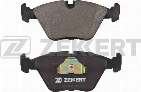 Zekkert BS-1210 - Комплект тормозных колодок, дисковый тормоз autodnr.net