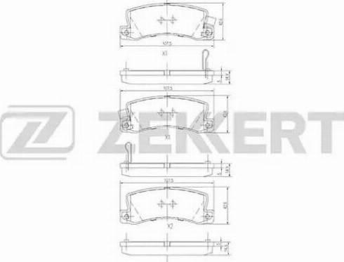 Zekkert BS-1216 - Комплект тормозных колодок, дисковый тормоз autodnr.net