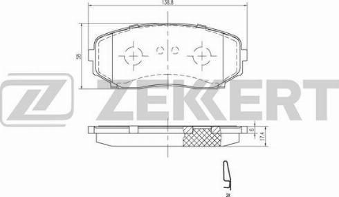 Zekkert BS-1228 - Комплект тормозных колодок, дисковый тормоз autodnr.net