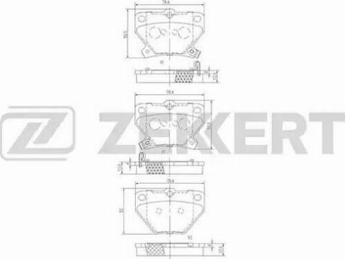 Zekkert BS-1267 - Комплект тормозных колодок, дисковый тормоз autodnr.net