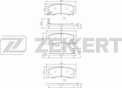 Zekkert BS-1347 - Комплект тормозных колодок, дисковый тормоз autodnr.net
