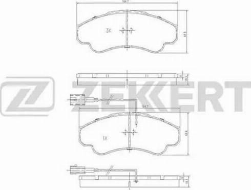 Zekkert BS-1459 - Комплект тормозных колодок, дисковый тормоз autodnr.net