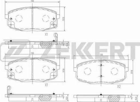 Zekkert BS-1762 - Тормозные колодки, дисковые car-mod.com