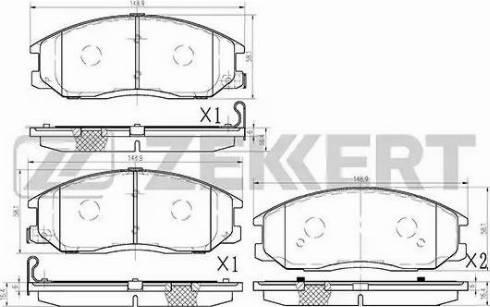 Zekkert BS-1794 - Комплект тормозных колодок, дисковый тормоз autodnr.net