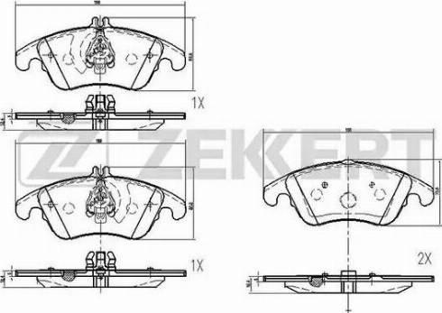 Zekkert BS-1879 - Комплект тормозных колодок, дисковый тормоз autodnr.net