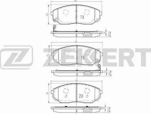Zekkert BS-1917 - Комплект тормозных колодок, дисковый тормоз autodnr.net