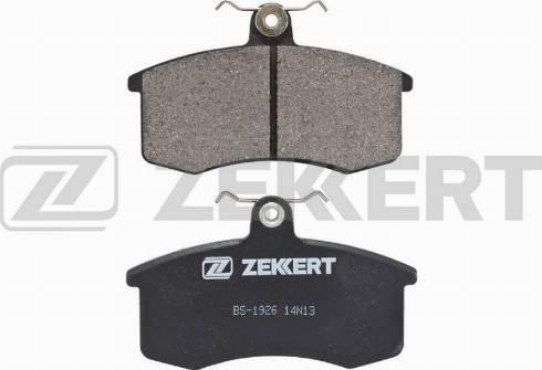 Zekkert BS-1926 - Комплект тормозных колодок, дисковый тормоз autodnr.net