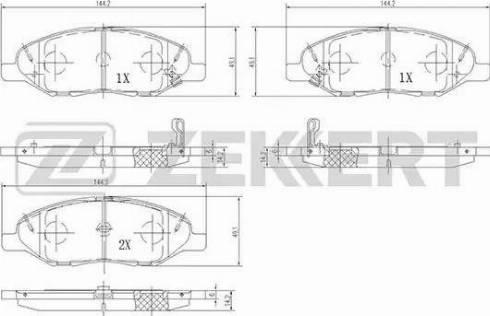 Zekkert BS-1941 - Комплект тормозных колодок, дисковый тормоз autodnr.net