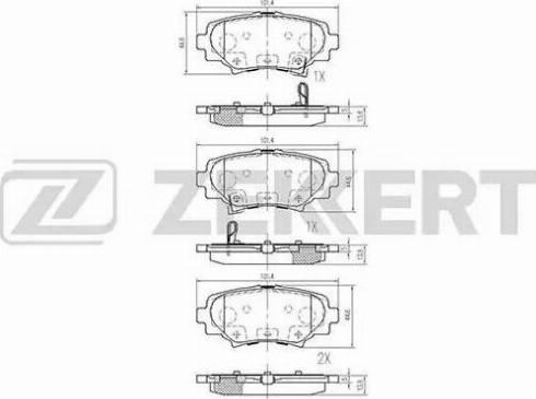 Zekkert BS-1969 - Комплект тормозных колодок, дисковый тормоз autodnr.net