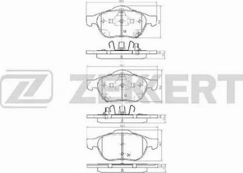 Zekkert BS-2075 - Комплект тормозных колодок, дисковый тормоз autodnr.net