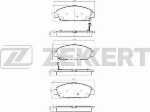Zekkert BS-2168 - Тормозные колодки, дисковые car-mod.com