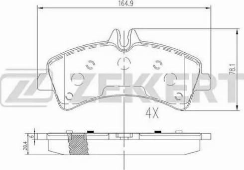 Zekkert BS-2185 - Комплект тормозных колодок, дисковый тормоз autodnr.net