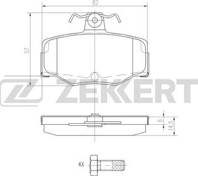 Zekkert BS-2272 - Комплект тормозных колодок, дисковый тормоз autodnr.net