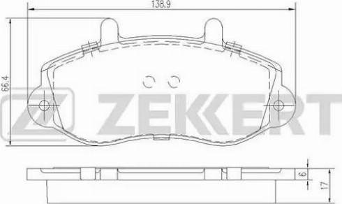 Zekkert BS-2420 - Комплект тормозных колодок, дисковый тормоз autodnr.net
