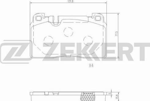 Zekkert BS-2456 - Комплект тормозных колодок, дисковый тормоз autodnr.net