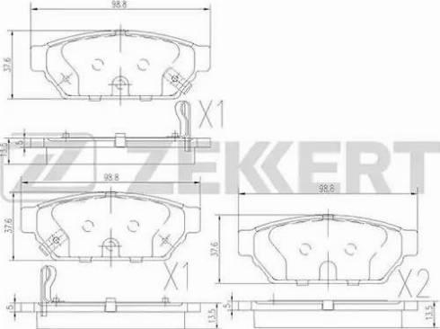 Zekkert BS-2535 - Комплект тормозных колодок, дисковый тормоз autodnr.net