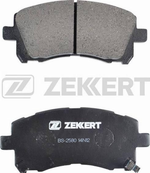 Zekkert BS-2580 - Комплект тормозных колодок, дисковый тормоз autodnr.net