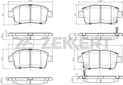 Zekkert BS-2695 - Комплект тормозных колодок, дисковый тормоз autodnr.net